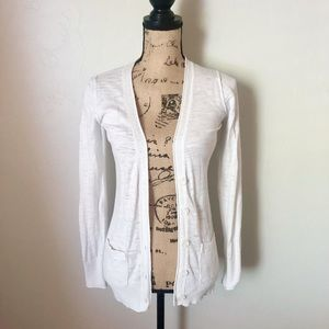 Mossimo White Long Sleeve Cardigan Size XS